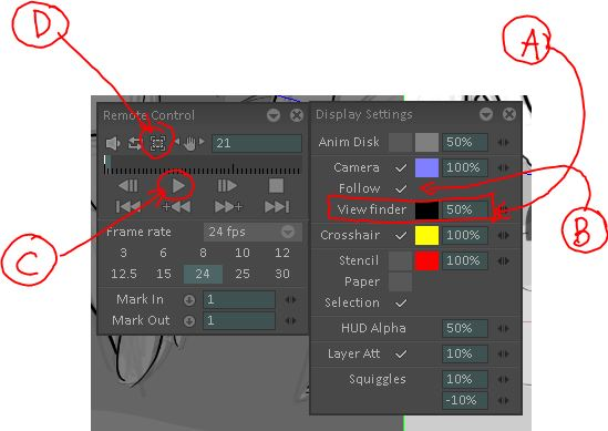 Playback without Camera View View finder and follow active.JPG