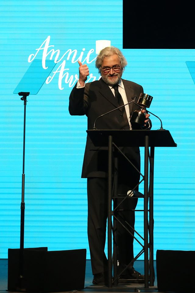 44TH ANNUAL ANNIE AWARDS -- Pictured Michael Dudok de Wit-Best Animated Feature - Independent - The Red Turtle -- (Photo by David YehASIFA).jpg