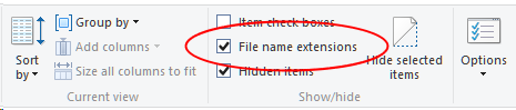 win 8.1 filename extensions checkbox.png